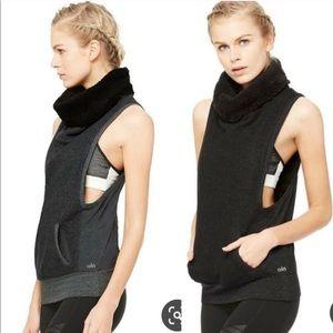 Alo Yoga Fleece Lined Frost Winter Vest Tank Furry